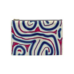 Blue and red lines Cosmetic Bag (Medium)