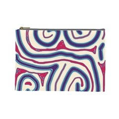 Blue and red lines Cosmetic Bag (Large)