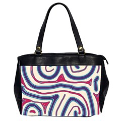 Blue and red lines Office Handbags (2 Sides)