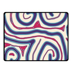 Blue and red lines Fleece Blanket (Small)