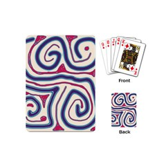 Blue and red lines Playing Cards (Mini)