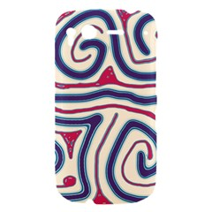 Blue and red lines HTC Desire S Hardshell Case