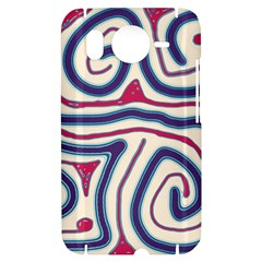 Blue and red lines HTC Desire HD Hardshell Case
