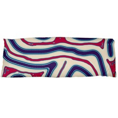 Blue and red lines Body Pillow Case (Dakimakura)