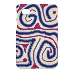 Blue and red lines Samsung Galaxy Tab 7  P1000 Hardshell Case