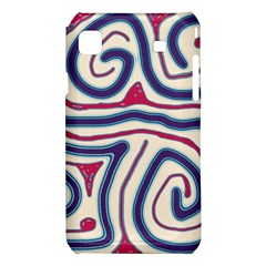 Blue and red lines Samsung Galaxy S i9008 Hardshell Case