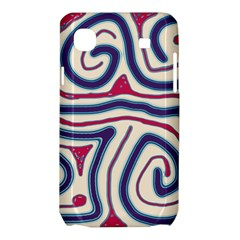 Blue and red lines Samsung Galaxy SL i9003 Hardshell Case