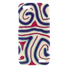 Blue and red lines HTC One V Hardshell Case