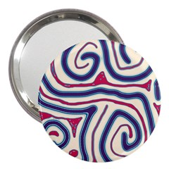 Blue and red lines 3  Handbag Mirrors
