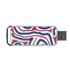Blue and red lines Portable USB Flash (Two Sides)