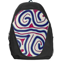 Blue and red lines Backpack Bag