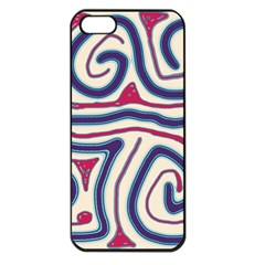 Blue and red lines Apple iPhone 5 Seamless Case (Black)