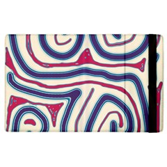 Blue and red lines Apple iPad 3/4 Flip Case