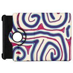 Blue and red lines Kindle Fire HD Flip 360 Case