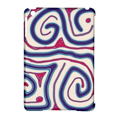 Blue and red lines Apple iPad Mini Hardshell Case (Compatible with Smart Cover)