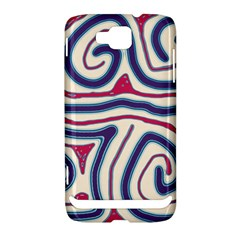 Blue and red lines Samsung Ativ S i8750 Hardshell Case