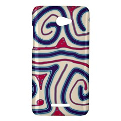 Blue and red lines HTC Butterfly X920E Hardshell Case
