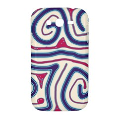 Blue and red lines Samsung Galaxy Grand DUOS I9082 Hardshell Case