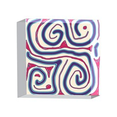 Blue and red lines 4 x 4  Acrylic Photo Blocks
