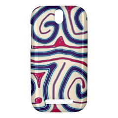 Blue and red lines HTC One SV Hardshell Case
