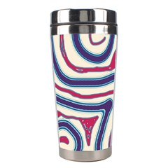 Blue and red lines Stainless Steel Travel Tumblers