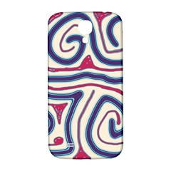 Blue and red lines Samsung Galaxy S4 I9500/I9505  Hardshell Back Case