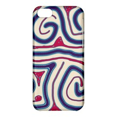 Blue and red lines Apple iPhone 5C Hardshell Case