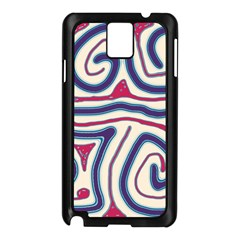 Blue and red lines Samsung Galaxy Note 3 N9005 Case (Black)