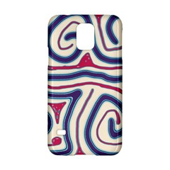 Blue and red lines Samsung Galaxy S5 Hardshell Case