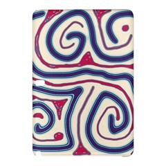Blue and red lines Samsung Galaxy Tab Pro 10.1 Hardshell Case