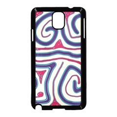 Blue and red lines Samsung Galaxy Note 3 Neo Hardshell Case (Black)