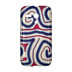 Blue and red lines Motorola Moto G