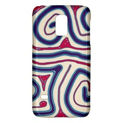Blue and red lines Galaxy S5 Mini