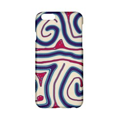 Blue and red lines Apple iPhone 6/6S Hardshell Case