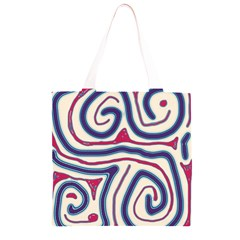 Blue and red lines Grocery Light Tote Bag