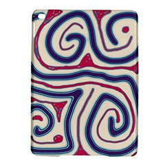 Blue and red lines iPad Air 2 Hardshell Cases