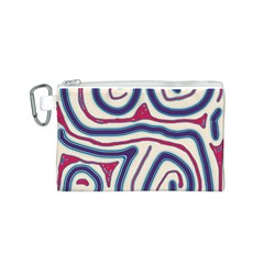 Blue and red lines Canvas Cosmetic Bag (S)