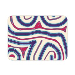 Blue and red lines Double Sided Flano Blanket (Mini)