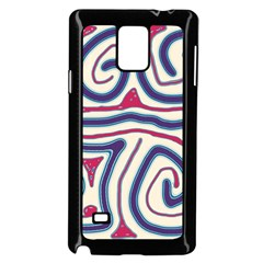 Blue and red lines Samsung Galaxy Note 4 Case (Black)