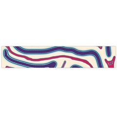 Blue and red lines Flano Scarf (Large)