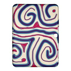 Blue and red lines Samsung Galaxy Tab 4 (10.1 ) Hardshell Case
