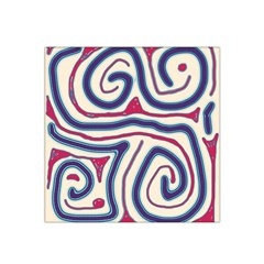 Blue and red lines Satin Bandana Scarf