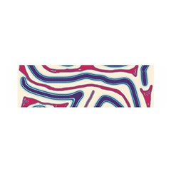 Blue and red lines Satin Scarf (Oblong)
