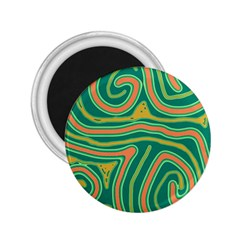 Green and orange lines 2.25  Magnets