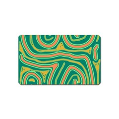 Green and orange lines Magnet (Name Card)