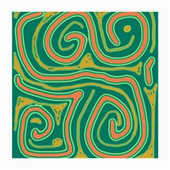 Green and orange lines Medium Glasses Cloth (2-Side)