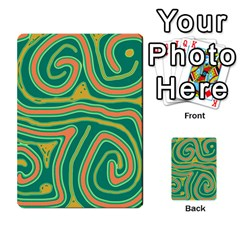 Green and orange lines Multi-purpose Cards (Rectangle)