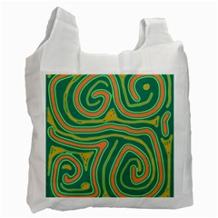 Green and orange lines Recycle Bag (Two Side)