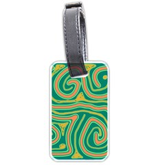 Green and orange lines Luggage Tags (Two Sides)