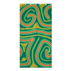 Green and orange lines Shower Curtain 36  x 72  (Stall)
